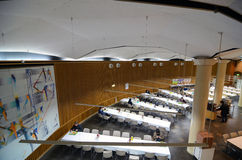 Tokyo, Japan - November 22, 2013: Students at canteen in University of Tokyo Royalty Free Stock Images