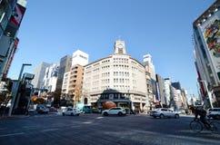 Tokyo, Japan - November 26, 2013:  Tourist visit Ginza crossroad Stock Photography