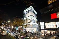 Tokyo, Japan - 24. November 2013: Touristen, die auf Omotesando-Straße kaufen Stockbilder