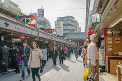 TOKYO,JAPAN - 24 November  2015 :Tourists walk on Nakamise Dori Stock Photography