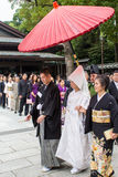 TOKYO, JAPAN - OCTOBER 10, 2015: Celebration of a typical Shinto Royalty Free Stock Photography