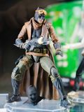 Tokyo, Japan - October 30, 2018: Close up of Batman figure on di. Splay shelf at Yamashiroya store in Ueno, Tokyo, Japan. Batman is a fictional superhero royalty free stock photo