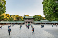 TOKYO, JAPAN - OCTOBER 07, 2015: Entrance to Imperial Meiji Shrine located in Shibuya, Tokyo shrine that is dedicated to the deifi Stock Photography