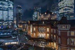 Tokyo, Japan - October 3, 2016: Marunouchi Business District and Tokyo Station. Tokyo Station is a railway station in the Marunouchi business district of Chiyoda Stock Photography