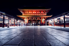 Tokyo, Japan - October 18, 2016: Sensoji Temple at Night. Sensoji Temple at Night, Tokyo, Japan Stock Photography