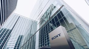 Tokyo, Japan, October 2017: Sony Center Headquarters building in. Tokyo stock photos
