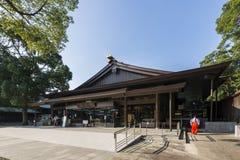Tokyo Japan - Oktober 2, 2016: Meiji Shrine Shibuya, Tokyo, Japan Royaltyfri Fotografi