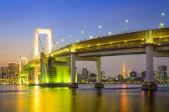 Tokyo, Japan at Rainbow Bridge Stock Image