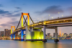 Tokyo Japan at Rainbow Bridge Royalty Free Stock Image