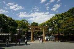 In front of Meiji shrine, located in Shibuya, Tokyo. Tokyo, Japan, 2rd, June, 2017. In front of Meiji shrine, located in Shibuya, Tokyo, is the Shinto shrine royalty free stock image