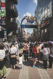 TOKYO JAPAN - SEPTEMBER12,2015: große Zahl des touristischen Gehens Stockbilder
