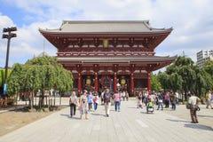TOKYO JAPAN - SEPTEMBER12  : large number of tourist in sensoji Royalty Free Stock Image