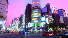 Spin shot of Ginza 4th crossing Tokyo Japan