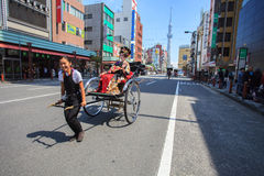 TOKYO JAPAN-SEPTEMBER 12: tourist  dressing japanese traditional Royalty Free Stock Photos