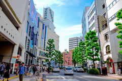 TOKYO, JAPAN: Shops ans stores in Shibuya area, the one of the fashion centers of Japan Royalty Free Stock Images