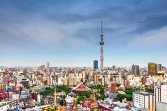 Tokyo, Japan Skyline from Asakusa stock photo