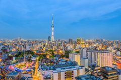Tokyo Japan Skyline Royalty Free Stock Photo