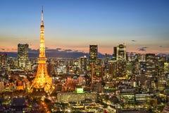 Tokyo Japan stadshorisont arkivbild