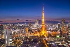 Tokyo Japan stadshorisont arkivfoton