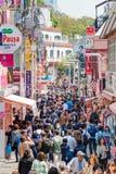 TOKYO JAPAN: Takeshita gata (Takeshita Dori) Royaltyfri Fotografi