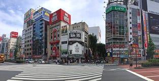 Downtown Shinjuku panorama Royalty Free Stock Images