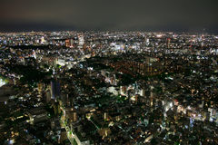 Tokyo (Japan) - View from Ropponghi Hills. View of Tokyo's endless sea of light as seen from Ropponghi Hills. Tokyo (Japan Royalty Free Stock Images