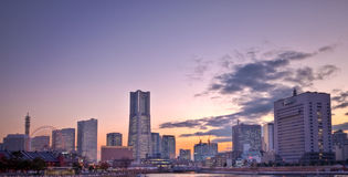 Tokyo Japan Yokahama city skyline Royalty Free Stock Images