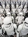 TOKYO, JAPON, Akihabara, 10 - juillet 2017 : L'exposition modèle des chiffres stormtroopers de Guerres des Étoiles Image libre de droits