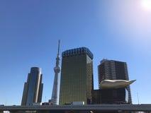 Tokyo, Japon avec des points de repère comprenant le nouvel arbre de ciel de Tokyo et Images libres de droits