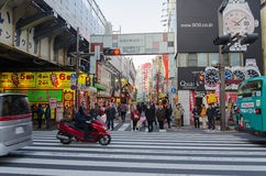 Tokyo, Japon - 7 février 2014 : Marché d'Ameyoko (Ameya Yokocho) un du marché de les plus populaires à Tokyo Images stock