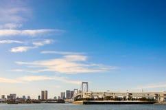 Tokyo, Japon - 9 février 2014 : Pont en arc-en-ciel à Tokyo Japon Photographie stock libre de droits