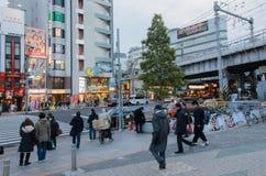 Tokyo, Japon - 7 février 2014 : une des rues près du sta d'Ueno photos libres de droits