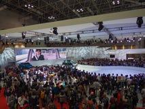 TOKYO, JAPON - 23 novembre 2013 : Cabine au moteur de Toyota Photos stock