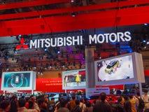 TOKYO, JAPON - 23 novembre 2013 : Cabine aux moteurs de Mitsubishi Photographie stock libre de droits