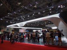 TOKYO, JAPON - 23 novembre 2013 : Cabine chez Audi Photo stock