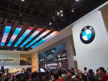 TOKYO, JAPON - 23 novembre 2013 : Cabine chez BMW Photos stock