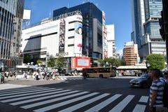 TOKYO, JAPON - 5 septembre 2016 : Promenade de piétons au croisement de Shibuya Image libre de droits
