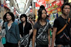 Tokyo köpcentrum fotografering för bildbyråer