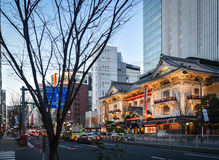 Tokyo, kabukiza theater. End day, kabukiza theater tokyo, ginza stock photo