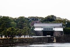 Tokyo-Kaiserpalast am 31. März 2017 | Japan-Reise mit Geschichtsmarkstein Stockfotos
