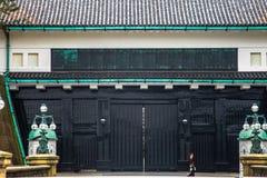 Tokyo-Kaiserpalast am 31. März 2017 | Japan-Reise mit Geschichtsmarkstein Stockfotografie