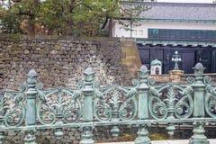 Tokyo-Kaiserpalast-Steinbrücke | Asiatische Reise in Japan am 31. März 2017 Lizenzfreies Stockfoto
