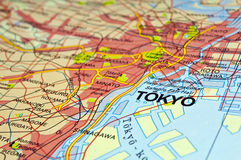 Tokyo-Karte Stockfotografie