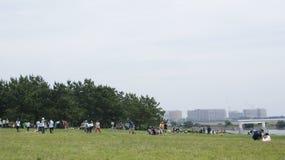 Tokyo Kasai Rinkai parkerar naturligt beskydd Fotografering för Bildbyråer