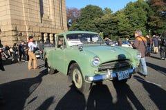 Tokyo klassisk bilfestival i Japan Arkivfoto
