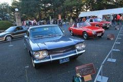 Tokyo klassisk bilfestival i Japan Royaltyfria Foton