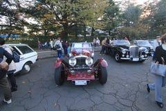 Tokyo klassisk bilfestival i Japan Fotografering för Bildbyråer