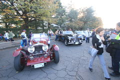 Tokyo klassisk bilfestival i Japan Arkivbilder
