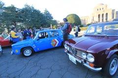 Tokyo klassisk bilfestival i Japan Arkivfoton