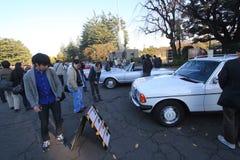 Tokyo klassisk bilfestival i Japan Arkivbild